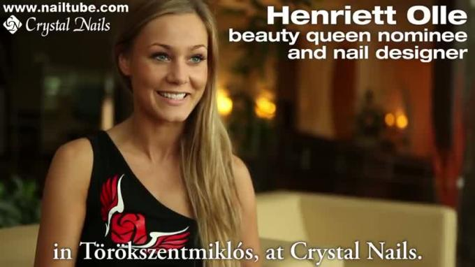 Crystal Nails on the Beauty Queen Contest